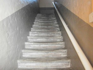 Stairs at Gressenhall Workhouse